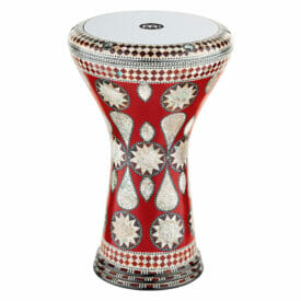"MEINL Percussion 8 3/4"" Artisan Edition Doumbek, White Burl, Mosaic Imperial"