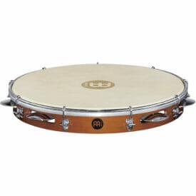 "Meinl Percussion 12"" Traditional Wood Pandeiros, Siam Oak, Goat Skin Head"