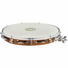 """Meinl Percussion 12"""" Traditional Wood Pandeiro With Holder, True Feel Head"""