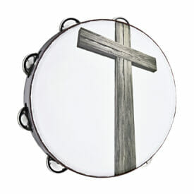 "Meinl Percussion 10"" Gospel Praise & Worship Church Tambourine, Black, Single Row, Nickel Plated Steel Jingles"