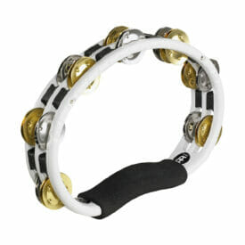 Meinl Percussion Recording-Combo Hand Held ABS Tambourine, White, Mixed Jingles