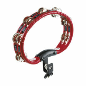 Meinl Percussion Traditional Mountable ABS Tambourine, Red, Nickel Plated Steel Jingles