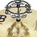 Meinl Percussion 5″ Headliner Series Hihat Tambourine, Single Row, Stainless Steel Jingles