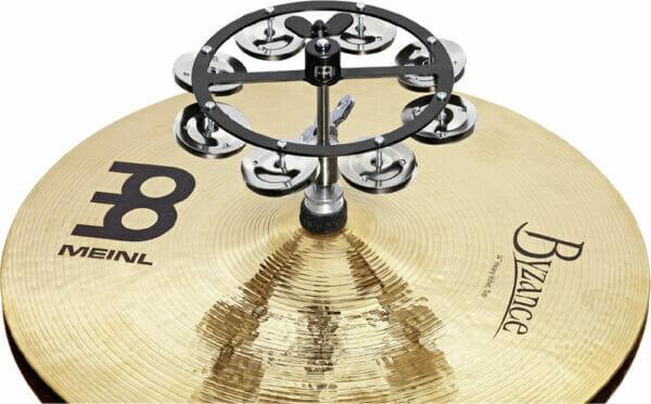 "Meinl Percussion 5"" Headliner Series Hihat Tambourine, Single Row, Stainless Steel Jingles"