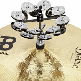 "Meinl Percussion 5"" Headliner Series Hihat Tambourine, Dual Row, Stainless Steel Jingles"
