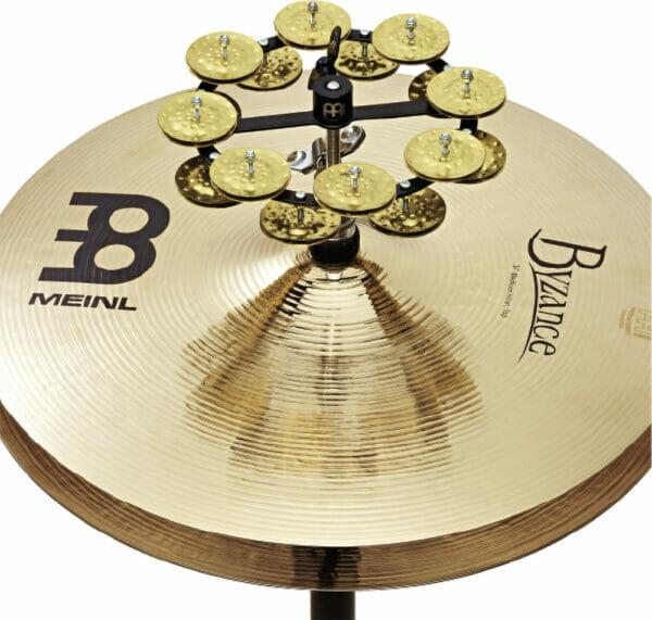 "Meinl Percussion 5"" Headliner Series Hihat Tambourine, Dual Row, Hammered Brass Jingles"