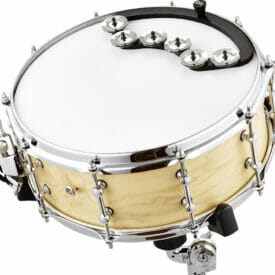 """Meinl Percussion Backbeat Tambourine, For 13"""" - 14"""" Drums, Stainless Steel Jingles"""