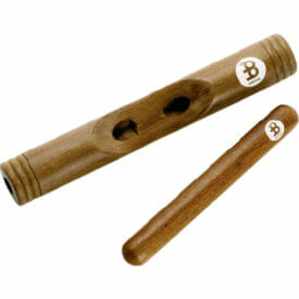 Meinl Percussion Wood Claves African, Hollowed Out Select Hardwood